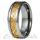 Dragon Tungsten Carbide Celtic Ring Mens Jewelry Wedding Band Gold New 7 -15