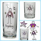PERSONALISED WEDDING PAGE BOY / LITTLE USHER HI-BALL JUICE GLASS Funky gift idea