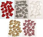 18 Glitter Sequin Heart Craft Embellishment CHOOSE YOUR COLOUR Card Making Craft