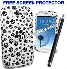FOOTPRINT PAWS PRINT SILICONE GEL CLIP ON CASE COVER SKIN FOR MANY MOBILE PHONES
