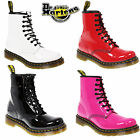 Dr Martens CLASSIC 8 EYE 1460 PATENT LEATHER ANKLE LACE UP SHOES BOOTS SIZE