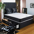 "5FT KINGSIZE DIVAN BED +11"" ORTHO MEMORY FOAM MATTRESS + HEADBOARD/DRAWERS SALE"