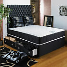"6FT SUPER KINGSIZE DIVAN BED +11"" ORTHO MEMORY FOAM MATTRESS + HEADBOARD/DRAWERS"