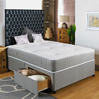 "2FT6 SMALL SINGLE DIVAN BED +11"" POCKET SPRUNG MATTRESS + HEADBOARD/DRAWERS SALE"