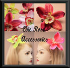New Large Tropical Orchid Flower Hair Corsage Rockabilly Pin up Fascinator Clip