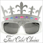 Crown Sunglasses Glitter Halloween Queen Princess Party Gold Silver 2411 multi