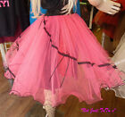 ROCK N ROLL UNDERSKIRT ADULT CHILDREN XL XXL COLOURS PETTICOAT