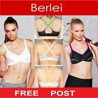 Berlei Electrify Underwire Womens Sports Support Bra Gym Run Black White Coral