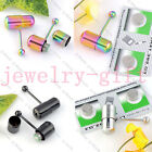 1x Stainless Steel Vibrating Stud Tongue Ring Bar Piercing 2 Batteries 3 Colors
