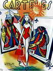 "265.Poster""Queen swimsuit for the Beach""Poker fun.gambling cover art design"