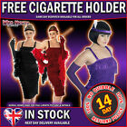 1920s Charleston Fringed Flapper + FREE 20s CIGARETTE HOLDER Fancy Dress Costume
