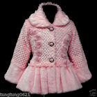 Pink p109 UsaG Winter X'mas Halloween Soft Faux Fur Party Jacket Girls Coat 2-7y