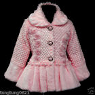 p109 UsaG Pink Winter X'mas Halloween Soft Faux Fur Party Jacket Girls Coat 2-7y