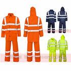 Rainsuit Hi Viz Waterproof Storm Jacket Trouser Set Mens Coat Workwear Security