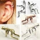 CLIMBING MAN climber EAR CUFF runner SILVER TONE/BRASS/COPPER running villain