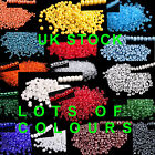 400 GLASS SEEDS BEADS SIZE 8/o 3mm LOVELY COLOURS GREAT VALUE   UK STOCK
