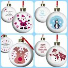 PERSONALISED CHILDRENS GIRLS BOYS BABYS 1ST CHRISTMAS PRESENT GIFT, TREE BAUBLES