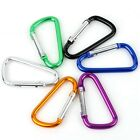 5PCS D TYPE CARABINER HOOK SNAP SPRING CLIP CAMPING HIKING CLIMBING KEYCHAIN