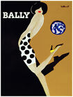 6007. Bally fashion POSTER. B & W Polka dots mini dress Wall Art Decorative.