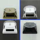 Solar Powered Rotating Jewellery Mobile Phone Ring Bracelet Watch Display Stand