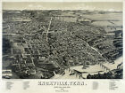 6116. Knoxville, Tenn. County Seat 1886 panoramic POSTER. Wall Art Decorative
