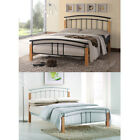 Tetras Silver Black White 3ft Single 4ft6 Double 5ft King Size Metal Bed Frame