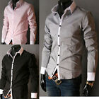 2012 NEW Trendy Collection Mens Formal Dress Black Grey Pink Blue Casual Shirt