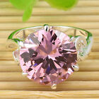 Cool Round Faceted Topaz Jewelry Gemstone Silver Ring Size #6/#7/#8/#9 CR3800