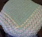 NEW Soft FANCY Crochet Baby Blanket Afghan;Pink,Blue,White,Yellow,Green OR Lilac