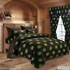6 PIECE 420 HERB BUD POT WEED LEAF MICROFIBER BED SHEETS SUPER SOFT SHEET SET  image