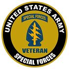 UNITED STATES Army Veteran Special Forces Decal Window Bumper Sticker NEW