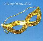 FANCY DRESS SEQUIN EYE MASK MASQUERADE BALL PARTY DICK TURPIN ZORRO CAT WOMAN