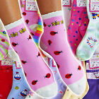 NEW 12 Pairs Size 1-14 S/M/L/XL KIDS/GIRLS Design Patterned Cute Crew Socks