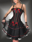 Burlesque Moulin Rouge Can Can Girl Fancy Dress Costume Corset  SPRING SALE !