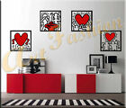 WALL STICKERS STICKER ADESIVI MURALI ADESIVO MURALE DECAL 4 KEITH HARING WS0728