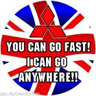 MITSUBISHI UNION JACK ANYWHERE WHEEL COVER STICKER DECAL 4X4  PAJERO SHOGUN