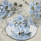72 pcs Craft ROSES made with Shimmering Organza - Wedding FAVORS Decorations