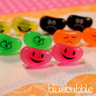 FUNKY JELLY BEAN FACE STUD EARRINGS KITSCH CUTE SWEET KAWAII CANDY JUNK FOOD EMO