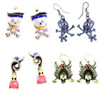 Goth punk biker very cool skull earrings multiple choices