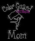 Color Guard Mom - C Rhinestone Iron on Transfer Hot Fix Bling Sports School