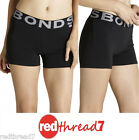 Bonds New Active Womens Hot Pants Short Shorts Tights Black Cotton Sports Size