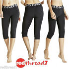 Bonds Active Ladies 3/4 Tights Leggings Capri Exercise Black Cotton Sports Gym