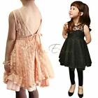 NWT Girls Kids Fashion Lace V Back Party Pageant Wedding Dress Clothing SZ 2-7 Y