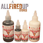 Stove Rope Glue Adhesive Black or White For Woodburning Fibreglass Lagging Seal