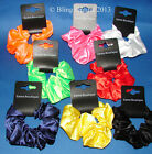 SILKY SATIN FEEL HAIR SCRUNCHIE ELASTIC HAIR BAND RED WHITE BLACK NAVY PINK ...