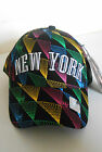 BRAND NEW BLING MULTI  COLOUR NEW YORK,FITTED ROUND PEAK SNAPBACK BASEBALL  CAPS