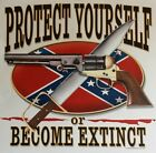DIXIE PROTECT YOUR SELF OR BECOME EXTINCT REDNECK REBEL SHIRT #868