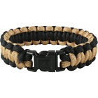 COBRA Weave Paracord Bracelet 7 Strand Survival Camping Hiking Coyote & Black