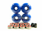 Blank Pro Skateboard 52mm Color Wheels + ABEC 7 Color Bearings + Spacers