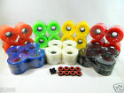 Внешний вид - Blank 60mm Longboard Cruiser Multi Color Wheels + ABEC 7 Bearing + Spacers